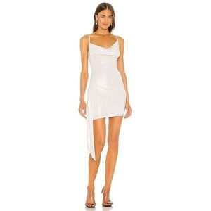 H:ours White Gold Cielo Mini Dress Revolve NWT